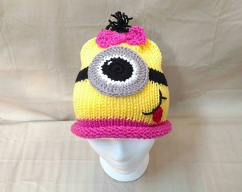 Minion Hat Baby Children Adult Sizes  Ready to ship - Any Size Same Price!!!