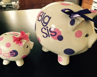 Personalized piggy bank set