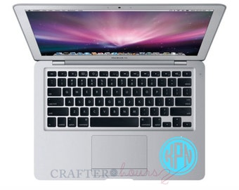"""Double Circle Monogram Decal - Choose 2"""", 3"""", 4"""", 5"""", 6"""", 7"""" or 8""""- perfect for phone/tablet cases, waterbottles, cars and more"""
