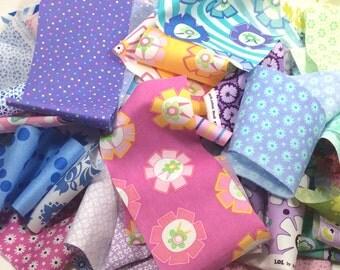 Scrap Bag 85 Moda Fabrics by Me & My Sister No Duplicates Baby Girl Pink