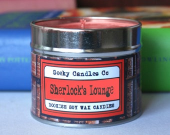 Sherlock's Lounge Bookish Candle - Book Candle - Bookish Gift - Oud Wood Scented Candle - Book Inspired Scent -