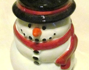 Publix The Holiday Snowfolk Black Candle Holder Christmas Premiere Edition