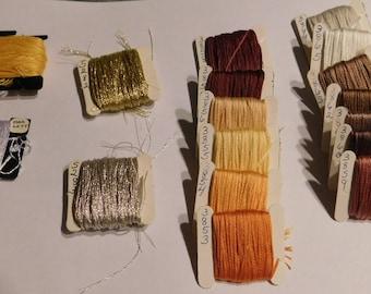 Lot of 17 DMC Embroidery Thread