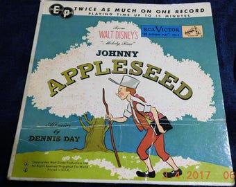 Vintage Walt Disney's Johnny Appleseed 45 RPM