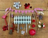 DIY valentines fairy garden accessories grab bag, love fairy garden, valentines accessories, Build your own fairy garden.