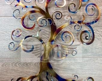 Heated Steel Swirly Tree of Life