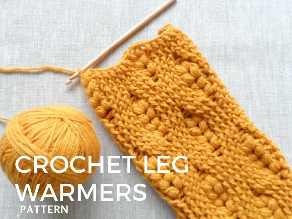Crochet Leg Warmers Pattern Crochet Pdf Pattern Cozy