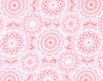 IT'S a GIRL THING by Michael Miller ~ Fabric ~ Doily Dance in Pink ~ Girls ~ Quilting ~ Sewing ~ Victorian ~ Romantic ~ Frilly ~ Doilies