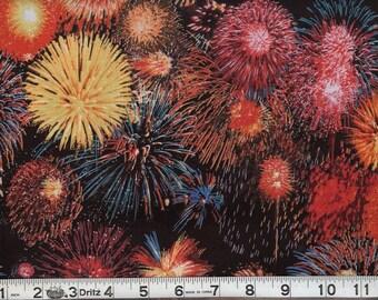 1 yard SHAMASH & SONS Celebration fireworks explosions 4657-BLACK