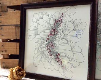 Framed Biological Texture Drawing