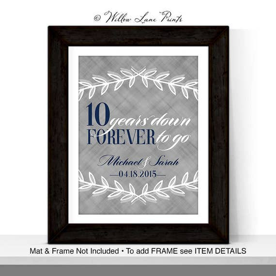 10th Wedding Anniversary Gift For Husband: 10th Anniversary Gift For Husband Wife, Custom Gift For