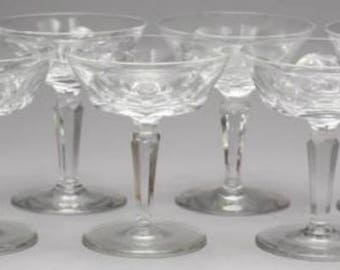 Fostoria heather champagne coupes set of 5 etched fostoria - Waterford champagne coupe ...