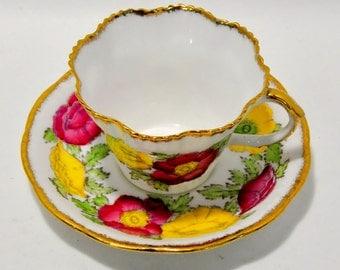 Iceland Poppy Teacup Salisbury Fine Bone China England