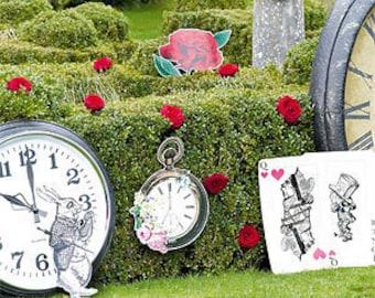 Alice in Wonderland XL party props.