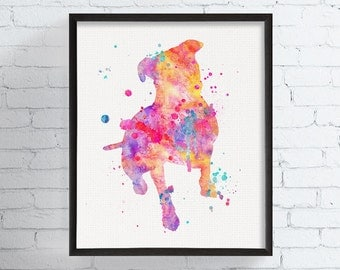 Pit Bull Watercolor, Pit Bull Art, Pit Bull Print, Pit Bull Wall Art, Pit Bull Poster, Dog Wall Art, Dog Lover Gift, Illustration