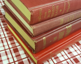 Bundle of Four Red & Gold Books ~ House and Party Decoration