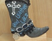 Hand Painted Cowboy Boot ...