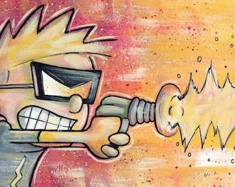 Calvin & Hobbes Spaceman Spiff Art Print 8x10 inches