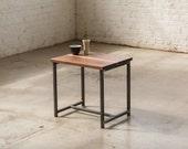 In stock!! The Watson End Table - Walnut with Waxed Steel - Walnut, Oak, Maple Solid Wood.. Side Table