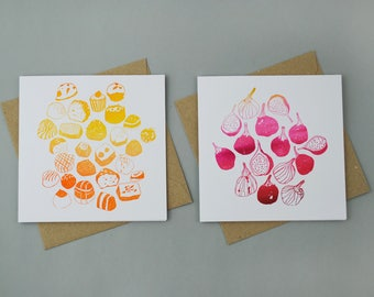 Set of Two Limited Edition Letterpress Cards
