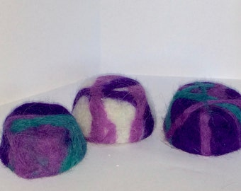 Set of Purple Felted Soap