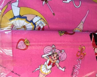 Vintage Sailor Moon Bedding Duvet Cover and Pillow case Fabric Material