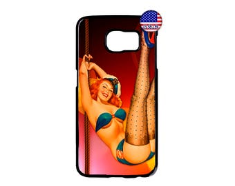 Cute Sexy Bikini Pin Up Girl Pattern Hard Rubber Case Cover For Samsung Galaxy S8 S7 S6 Edge Plus S5 S4 S3 NOTE 5 4 3 2 iPod Touch 4 5 6