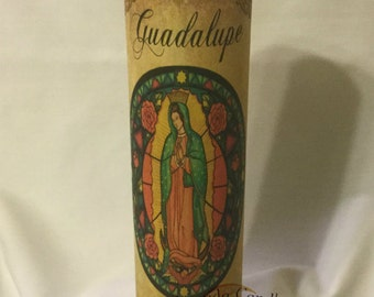 Guadalupe candles | Etsy