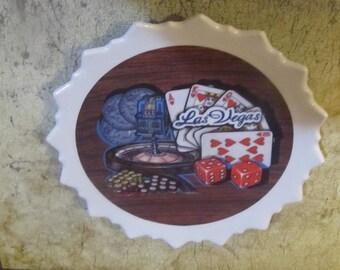 Gambling souvenir Plastic Plate