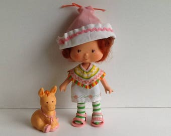 CAFE OLE w/ Burrito Vintage Strawberry Shortcake Doll