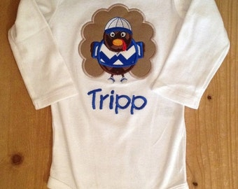 Little Boy Thanksgiving Turkey Shirt or Baby Bodysuit