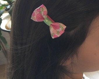 Spring Floral Hair Bow