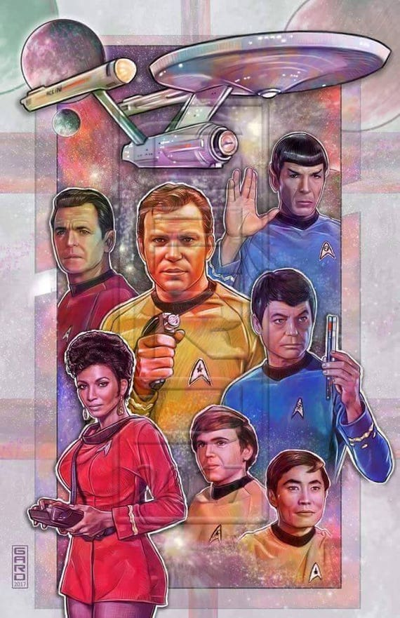 Star Trek Original Series Print
