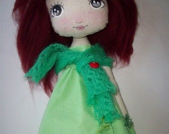 cloth doll, collectible gdoll, nursery decor