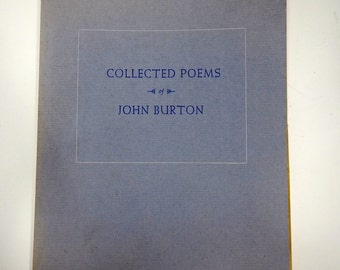 Collected Poems of John Burton