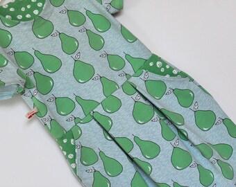 Summer dress, dress, girl, pears, organic, 104 to 140 128 ready for shipment