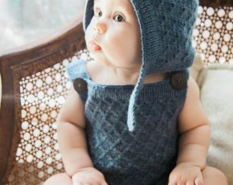 Pixie Romper and Hat in Periwinkle