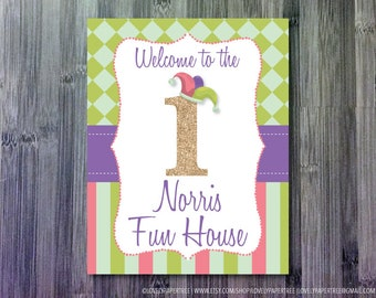 April Fools or Circus Birthday Welcome Sign | WSIGN1