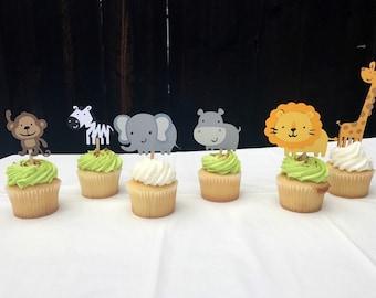 Zoo / Jungle / Safari themed cupcake toppers