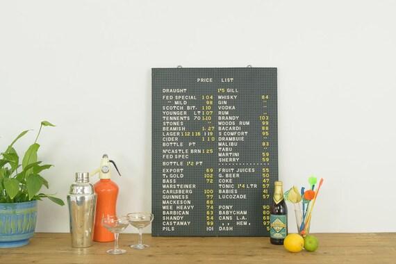 vintage original black peg letter board with letters numbers and symbols