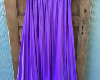 Vintage 70's Purple Accordion Pleated Maxi Skirt by Mister Jay size extra large