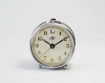 Vintage Alarm clock SEVANI, mechanical alarm clock EREVANSKI, USSR soviet era, Working mid century clock 1957s