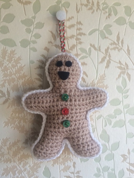 Crocheted Gingerbread Man Tree Decoration