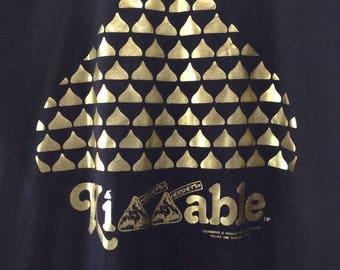 Vintage Hershey's Kiss T-Shirt - Kissable Hershey's Kiss T-Shirt - Metallic Hershey's Kiss T-Shirt