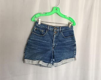 Cuffed Denim Shorts Vintage Arizona Distressed Women's XS or Small