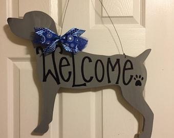 Weimeraner Door Hanger, Weimeraner Wreath, Weimeraner Decor, Dog Door Hanger, Dog Wreath, Dog Decor, Dog Lover Decor, Weim Decor