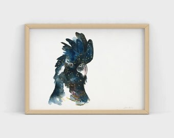 Bird Portrait: Original Custom Watercolour Paintings
