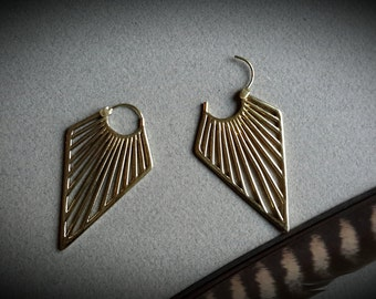 brass earrings *triangle*