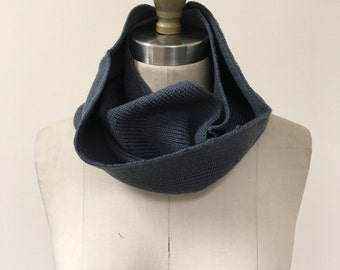 Slate Knitted Infinity Scarf