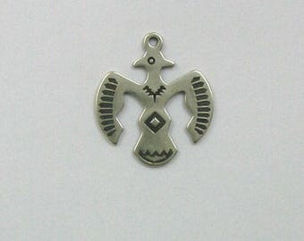 Sterling Silver 25mm Thunderbird Charm